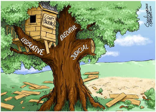 court packing breaking 3 branches of government