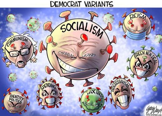 democrat variants socialism communism fascism covid