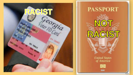 georgia voter id racist passport not