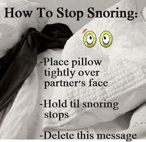 how to stop snoring pillow over head delete message