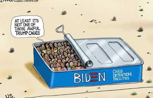 joe biden immigrant child sardines at least not trump cage