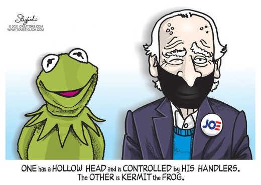 kermit vs joe biden one hollow head controlled by handlers