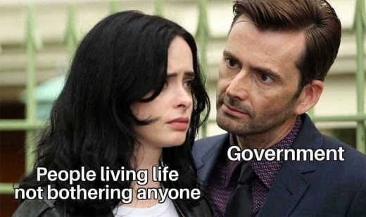 people living life not bothering anyone government jessica jones