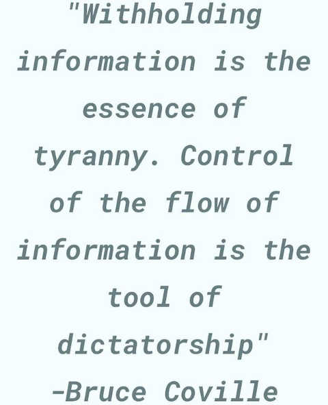 quote withholding info essence of tyranny dictatorship bruce coville