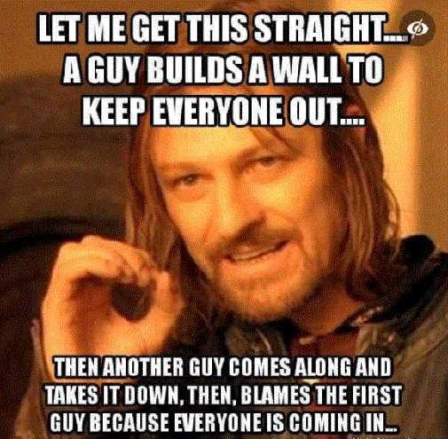 trump builds wall joe biden tears down blames trump everyone coming in