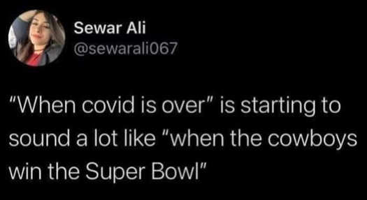 tweet ali covid over like when cowboys win superbowl