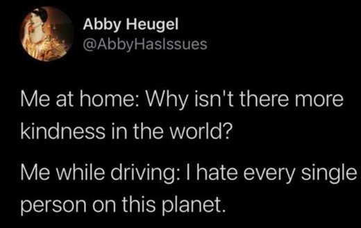tweet heugle homehate every single person