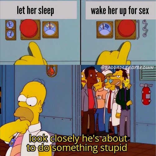 wake her up for sex homer