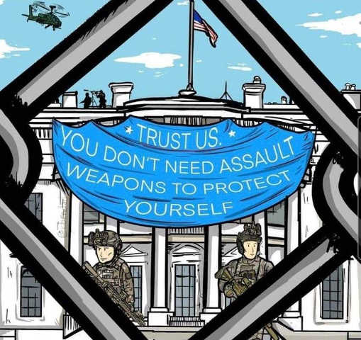 white house trust us dont need assault weapons capitol