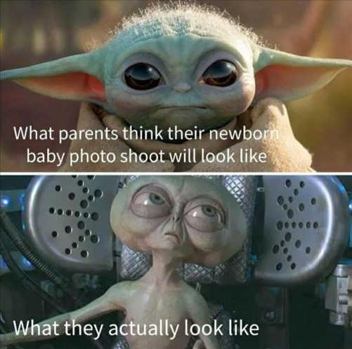 baby yoda what parents think newborn looks like actual