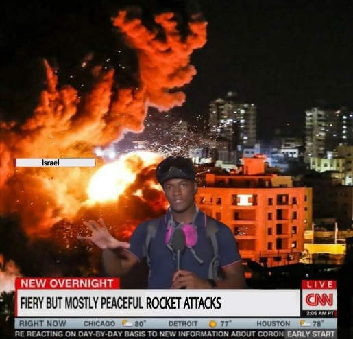 cnn israel hamas mstly peaceful rockets