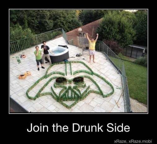 come to the drunk side darth vader beer bottles
