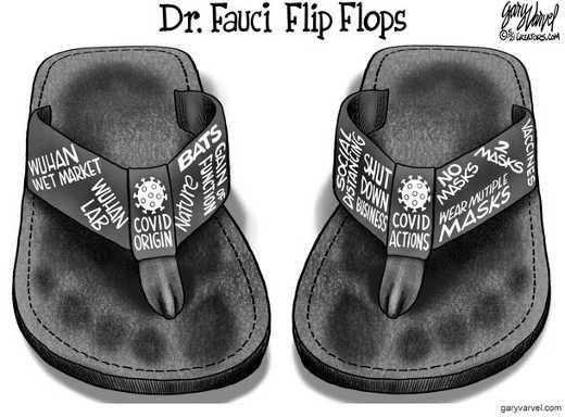 dr fauci flip flops wuhan masks