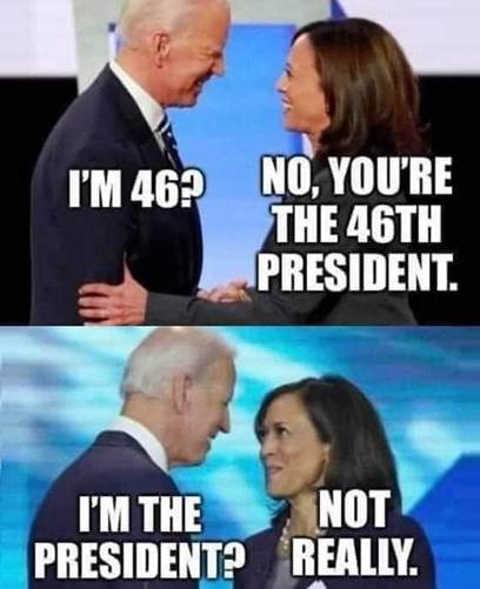 joe biden 46th president kamala not really