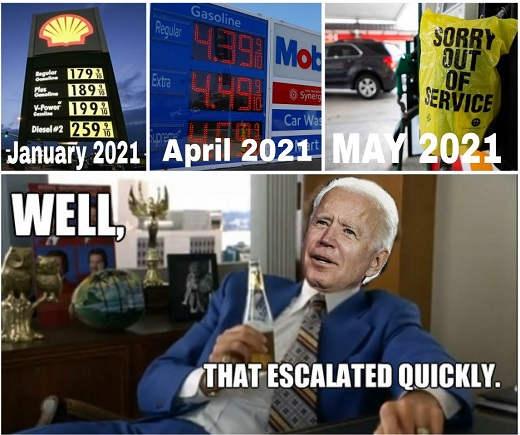 joe biden gas prices escalated quickly 2021