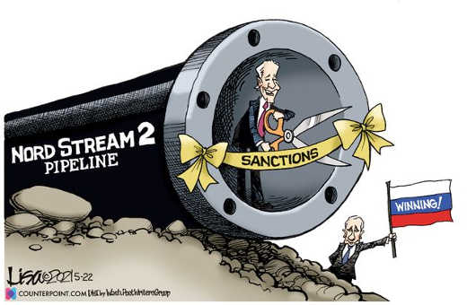 joe biden removing sanctions russian nordstream pipeline putin winning