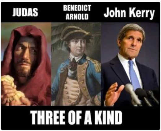 judas benedict arnold john kerry one of a kind traitors