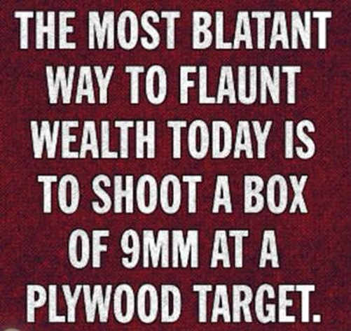 message most blatant flaunt wealth shoot 9mm plywood target