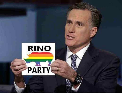 mitt romney rino party sign