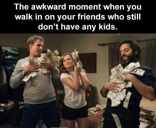 moment walk on friends no kids playing in cash
