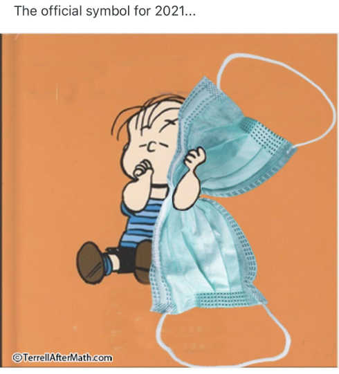 official symbol 2021 linus security blanket facemask