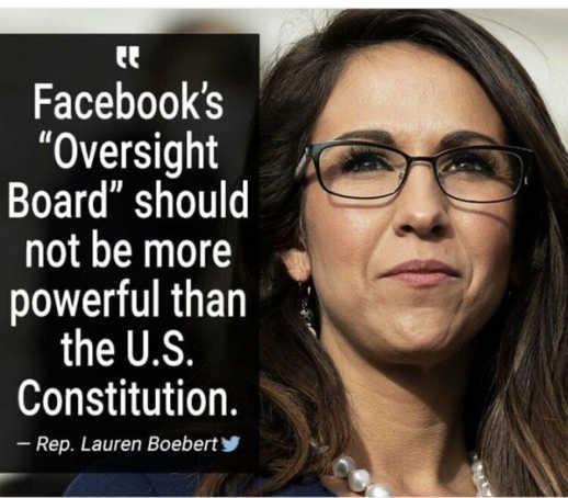 quote lauren boebert facebook oversight board shouldnt be more powerful than us constitution