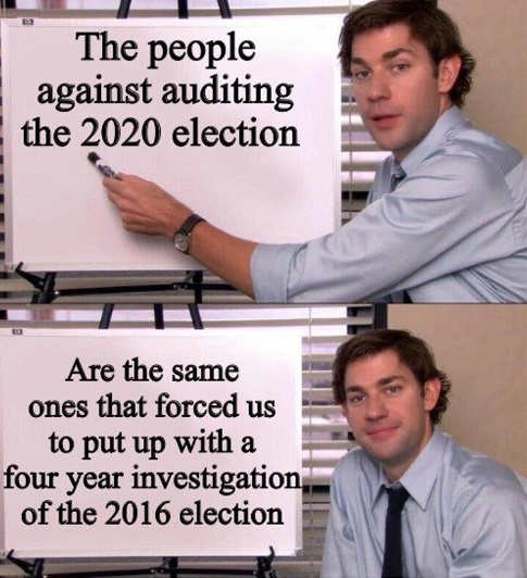same people oppose auditing 2020 election 4 year investigation 2016 election