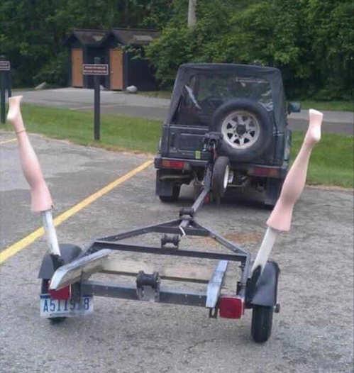 truck trailer spread legs