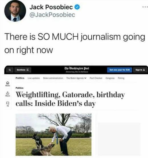 tweet jack prosbiec so mich journalism going on joe biden weightlifting ice cream
