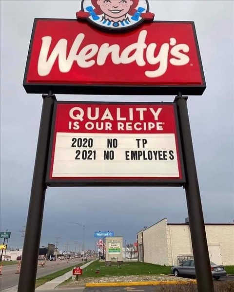 wendys sign 2020 no tp 2021 no employees
