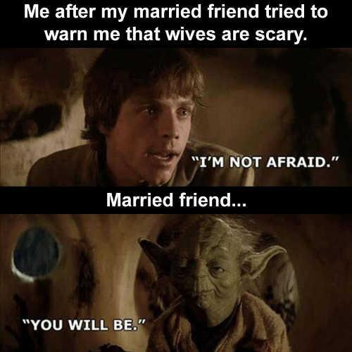 yoda luke not afraid of wife you will be