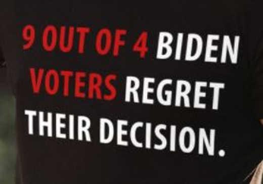 9 of 4 joe biden voters regret decision tshirt
