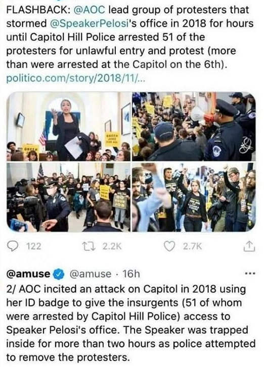 aoc 51 protesters arrested 2018