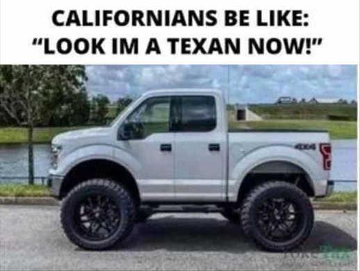 californians look im texan mini truck