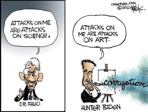 dr fauci attacks me science hunter biden art corruption