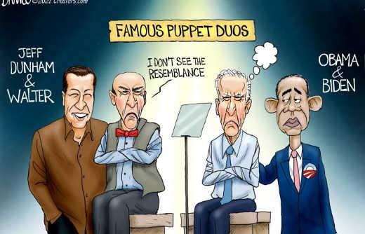 famous puppet duos biden walter dunham obama
