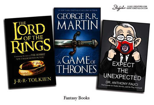 fantasy books lord of rings game of thrones fauci expect unexpected