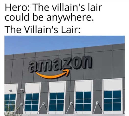 hero villains lair amazon headquarters