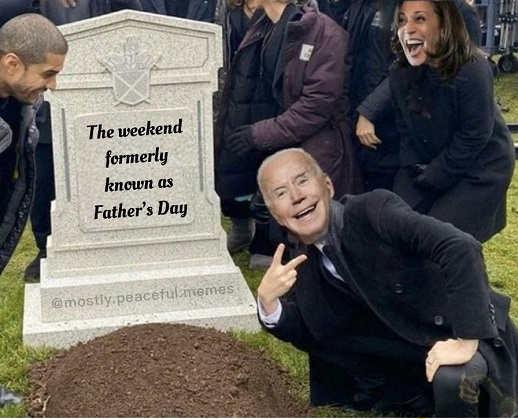 joe biden kamala harris gravesite weekend formerly known as fathers day