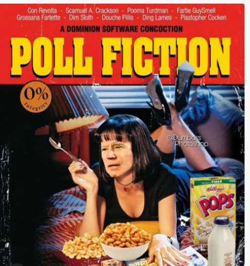 joe biden poll fiction dominion pulp corn pop