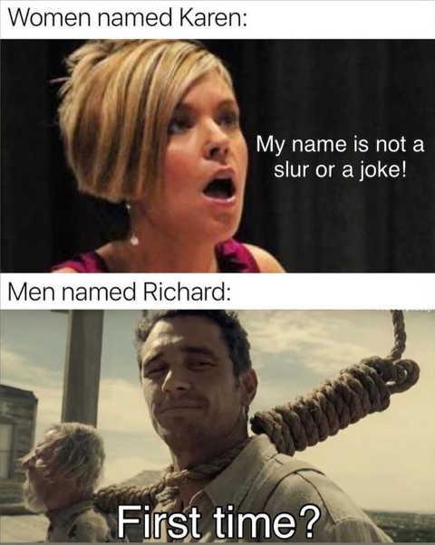 karen name is slur richard first time