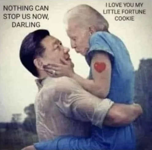 notebook china joe biden hug nothing can stop us