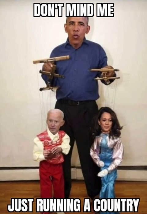 obama puppet master running country joe biden kamala harris