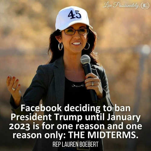 quote facebook banning trump january 2023 midterms