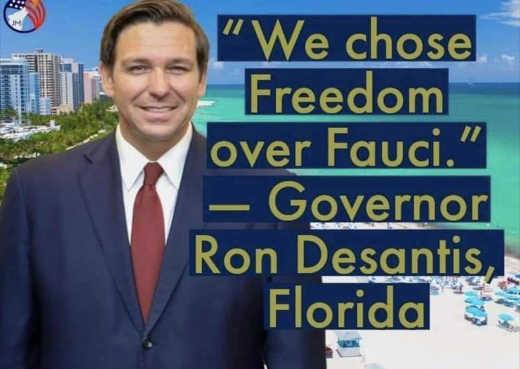 quote ron desantis chose freedom over fauci