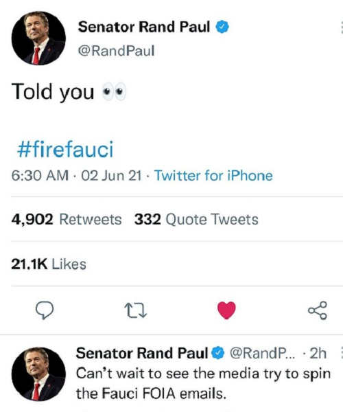 rand paul told you fauci was a liar