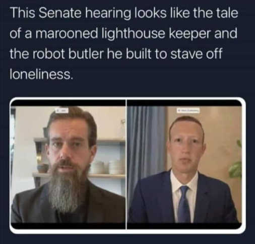 senate hearing zuckerberg dorsey marooned robot butler