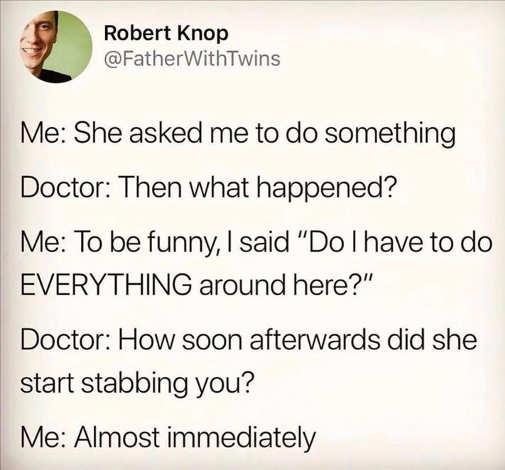 tweeet knop wife ask do everyth8n stabbing start