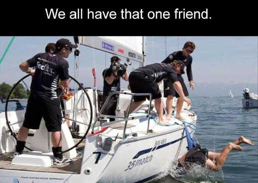 we all have that one friend shorts boat