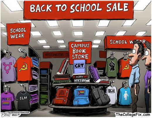 back to school sale campus book store crt white fragility karl marx